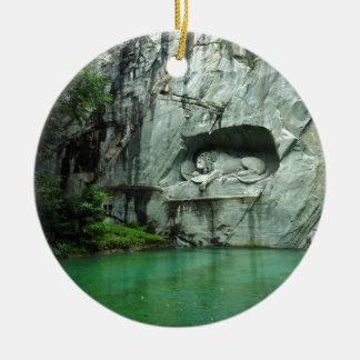 The Lion Monument in Lucerne Christmas Ornament