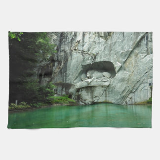 The Lion Monument in Lucerne Tea Towel