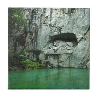 The Lion Monument in Lucerne Tile