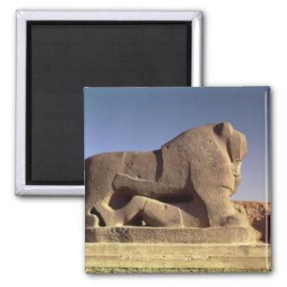 The Lion of Babylon Square Magnet