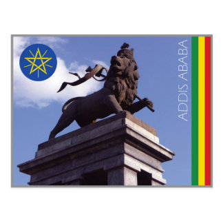 The Lion of Judah, Addis Ababa - Ethiopia Postcard