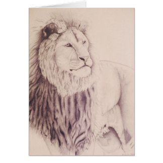 The Lion of Judah - pencil on paper 1990 Var 3 Card