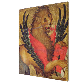 The Lion of St. Mark (oil on panel) Canvas Print