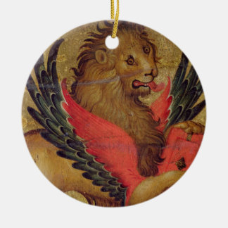 The Lion of St. Mark (oil on panel) Christmas Ornament
