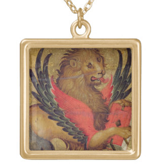 The Lion of St. Mark (oil on panel) Necklaces