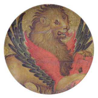 The Lion of St. Mark (oil on panel) Plate