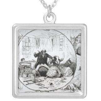 The Lion out of Humour Silver Plated Necklace
