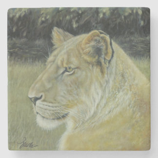 """The Lion Queen"" Stone Coaster"