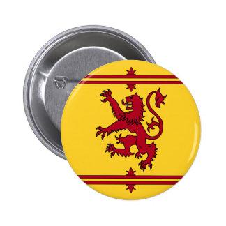 The Lion Rampant of Scotland 6 Cm Round Badge