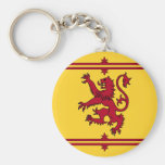 The Lion Rampant of Scotland Basic Round Button Key Ring