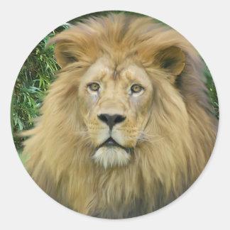 The Lion Round Sticker