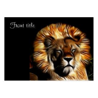 The Lion Sleeps Business Card Templates