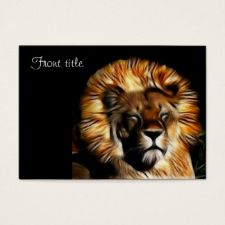 The Lion Sleeps Business Card
