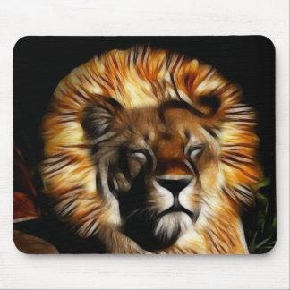 The Lion Sleeps Mouse Pad