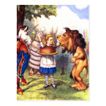THE LION & THE UNICORN; CAKE WILL MAKE IT BETTER! POSTCARD