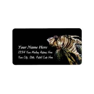 The Lionfish Address Label