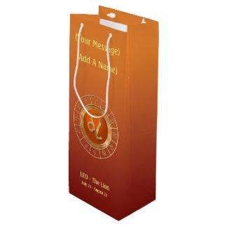 The Lion's Horoscope Symbol Wine Gift Bag