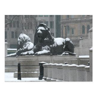 The Lions-Trafalgar Square London Post Card