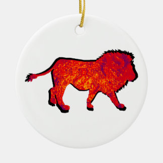 THE LIONS WALK ROUND CERAMIC DECORATION