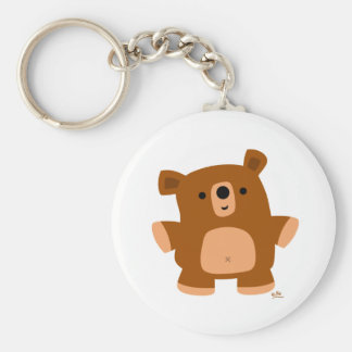 The little bear basic round button key ring