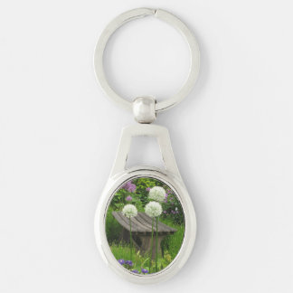 The Little Bench - Metal Oval Twisted Key Ring Silver-Colored Oval Key Ring