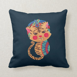 The Little Bengal Tiger Throw Pillow