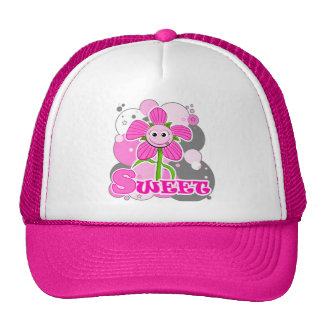 The Little Bloomers - Sweet Selina - Pink Flower Mesh Hats