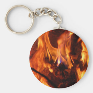 The little blue flame basic round button key ring