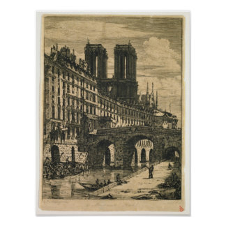 The Little Bridge, 1850 Poster