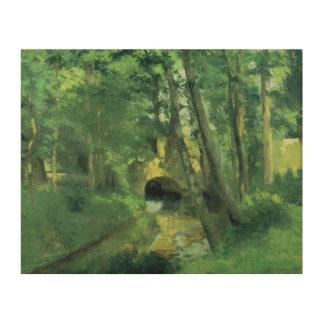 The Little Bridge, Pontoise, 1875 Wood Canvas