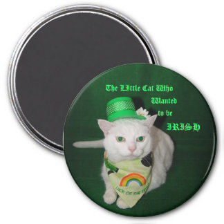 The Little Cat Who Wanted to be Irish 7.5 Cm Round Magnet
