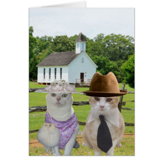 The Little Cats Who Wanted to go to Church Easter Greeting Card