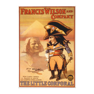 """The Little Corporal"" Egypt Sphinx Theatre Canvas Print"