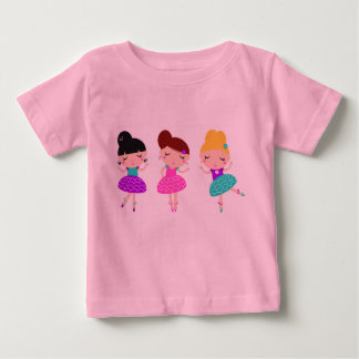 The little cute t-shirt pink with Ballerina
