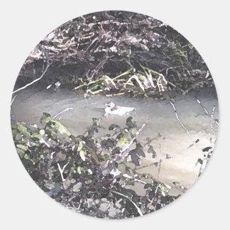 The Little Duck In The Big Creek Round Sticker