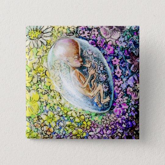The Little Flower - detail 15 Cm Square Badge