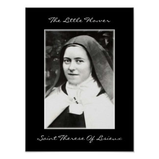 THE LITTLE FLOWER SAINT THERESE OF LISIEUX PRINT