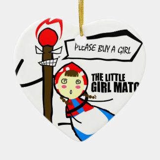 the little girl match TEST Ceramic Heart Decoration