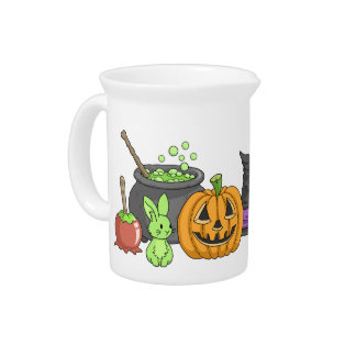 The Little Green Halloween Bunny Drink Pitcher