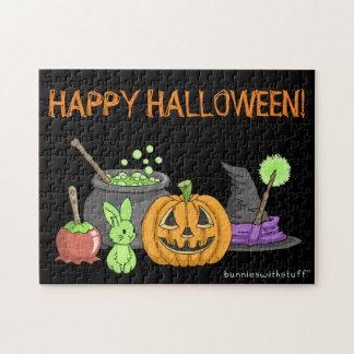 The Little Green Halloween Bunny Jigsaw Puzzle