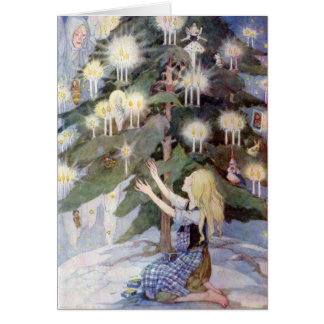 The Little Match Girl Children's Fairy Tale Blank Note Card