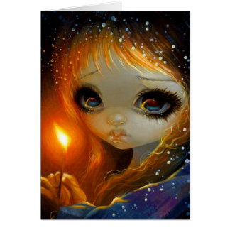 """""""The Little Match Girl"""" Greeting Card"""