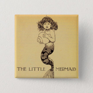 The Little Mermaid 15 Cm Square Badge