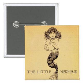 The Little Mermaid 15 Cm Square Badge