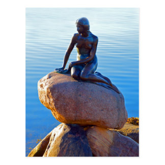 The Little Mermaid in Copenhagen, Denmark Postcard