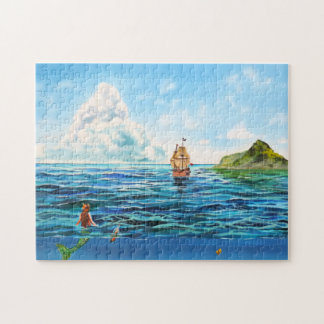 The little Mermaid seascape painting Jigsaw Puzzle