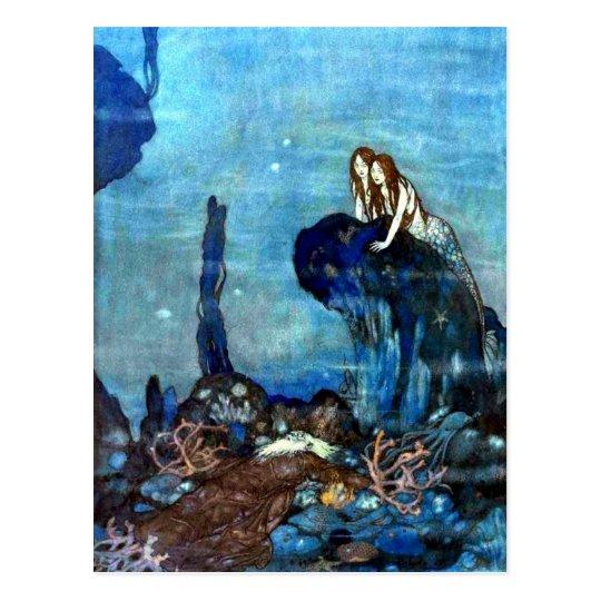 The Little Mermaid vintage art postcard 2