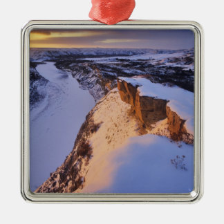 The Little Missouri River in winter in Christmas Ornament