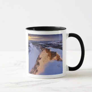 The Little Missouri River in winter in Mug