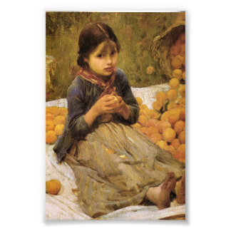 The Little Orange Gatherer Photo Print